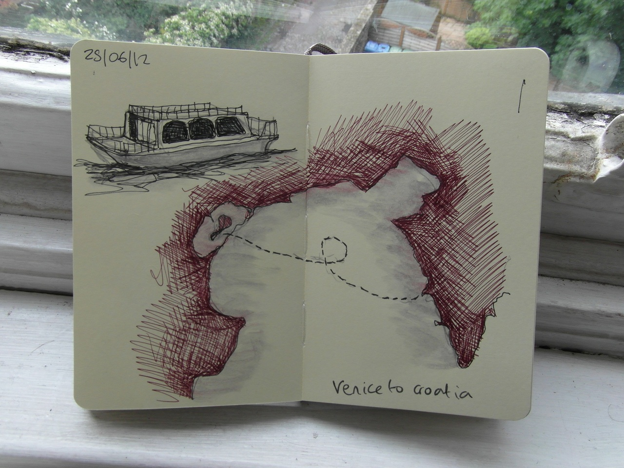 365 drawings later … day 146 … venice to croatia