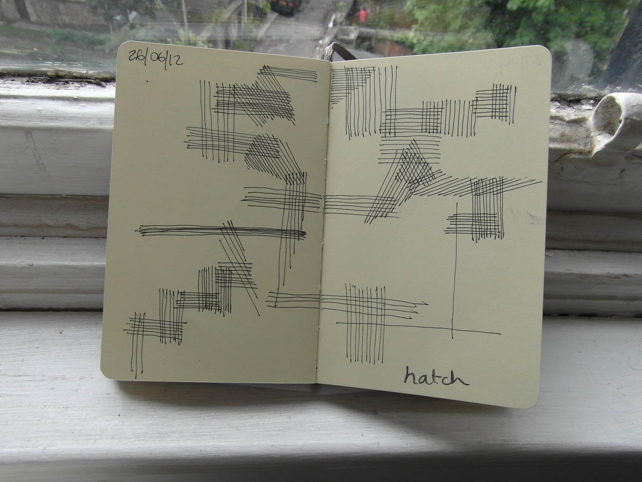 365 drawings later … day 147 … hatch