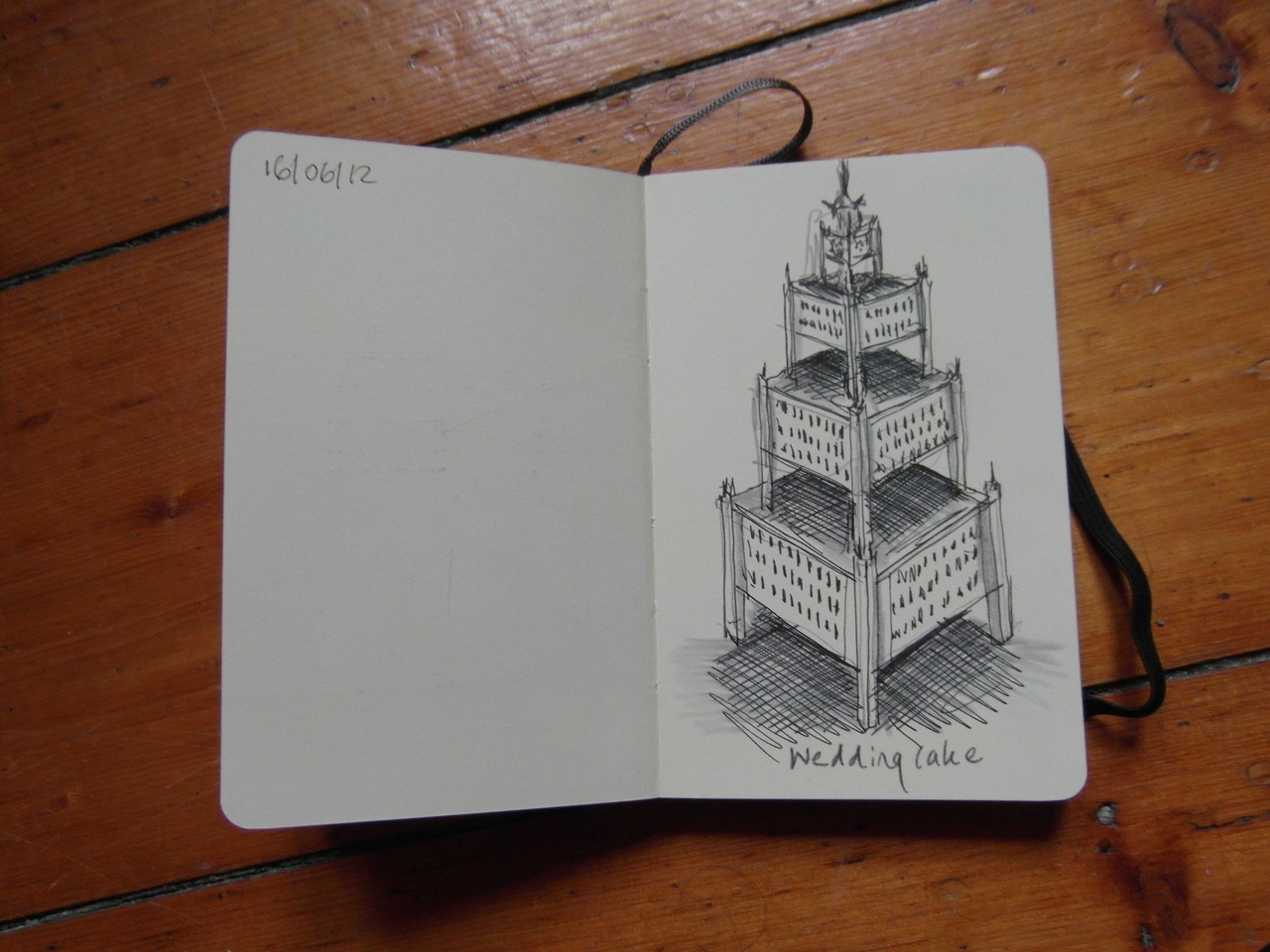 365 drawings later … day 137 … wedding cake [architecture]
