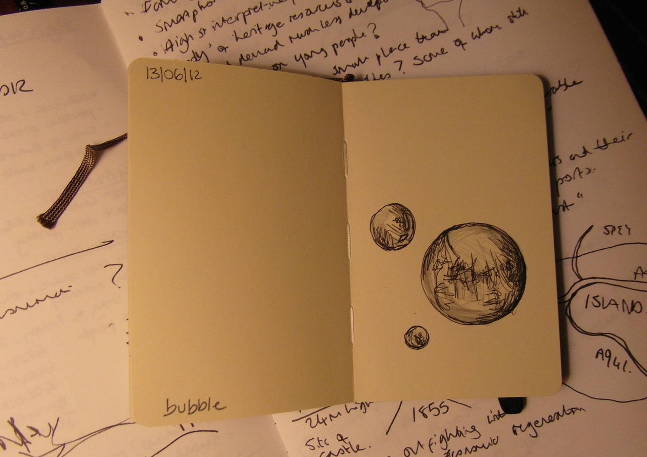 365 drawings later … day 134 … bubble [ever feel like yer in one?]
