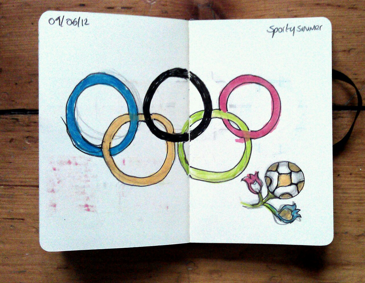 365 drawings later … day 130 … sporty summer