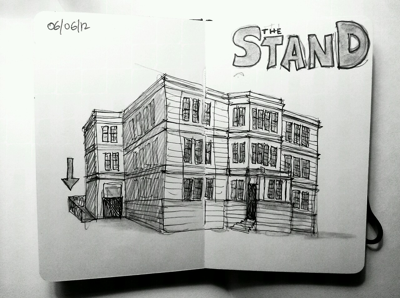 365 drawings later … day 127 … the stand