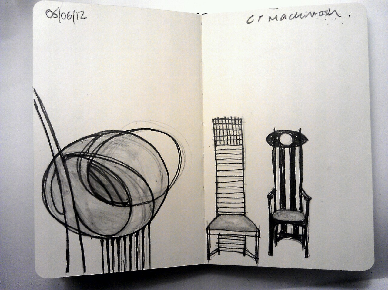365 drawings later … day 126 … c r mackintosh