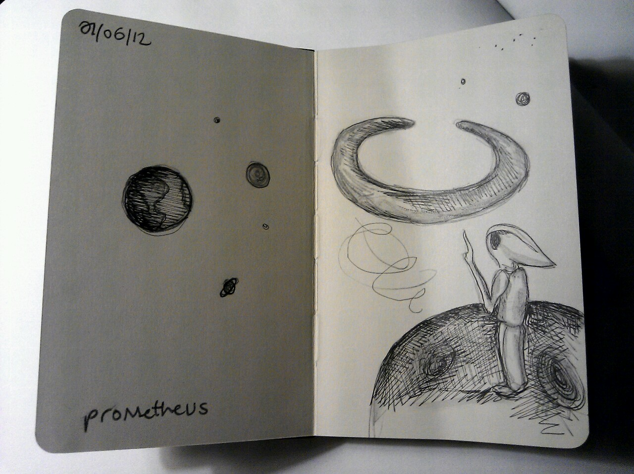 365 drawings later … day 122 … prometheus