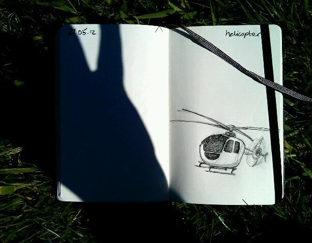 365 drawings later … day 117 … helicopter [because I'd like to fly one]