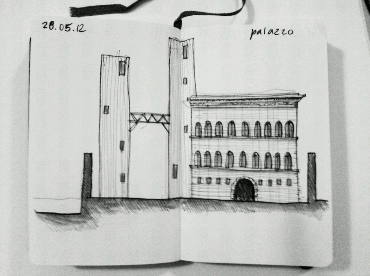 365 drawings later … day 118 … palazzo (architecture and power)