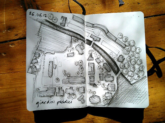 365 drawings later … day 116 … giardini publicci #venice #biennale