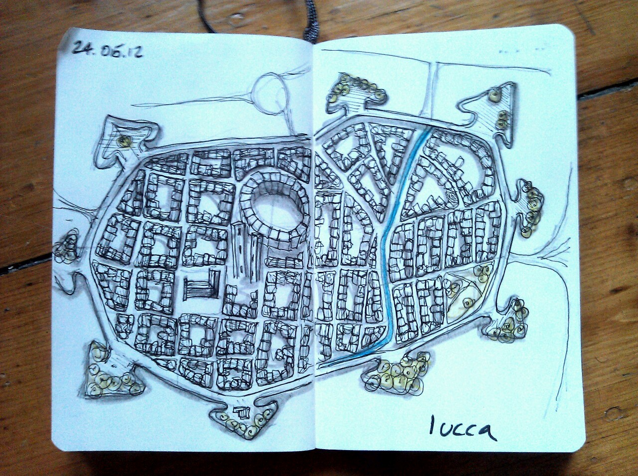 365 drawings later … day 114 … lucca