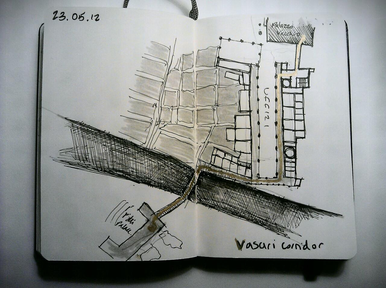 365 drawings later … day 113 … vasari corridor