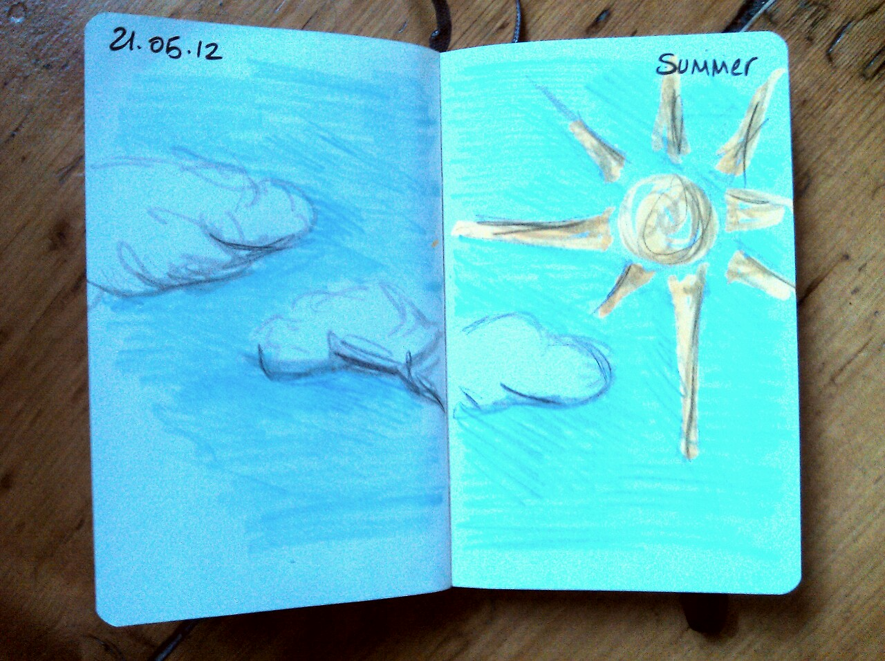 365 drawings later … day 111 … summer (here's hoping!)
