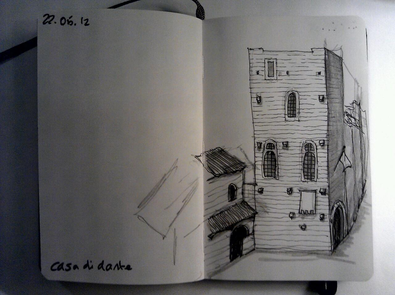 365 drawings later … day 112 … casa di dante