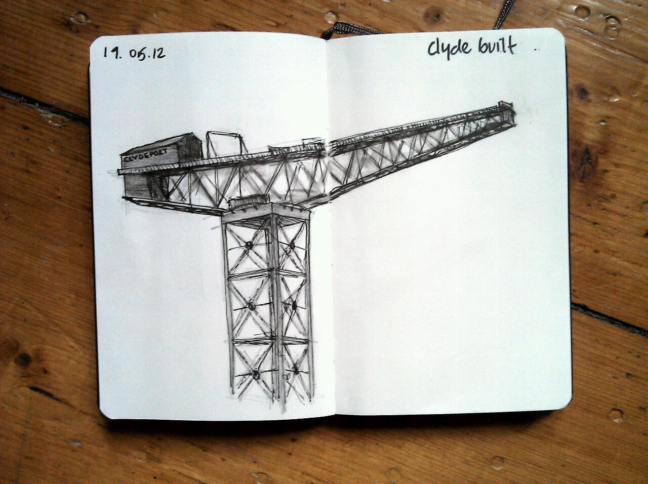 365 drawings later … day 109 … clyde built