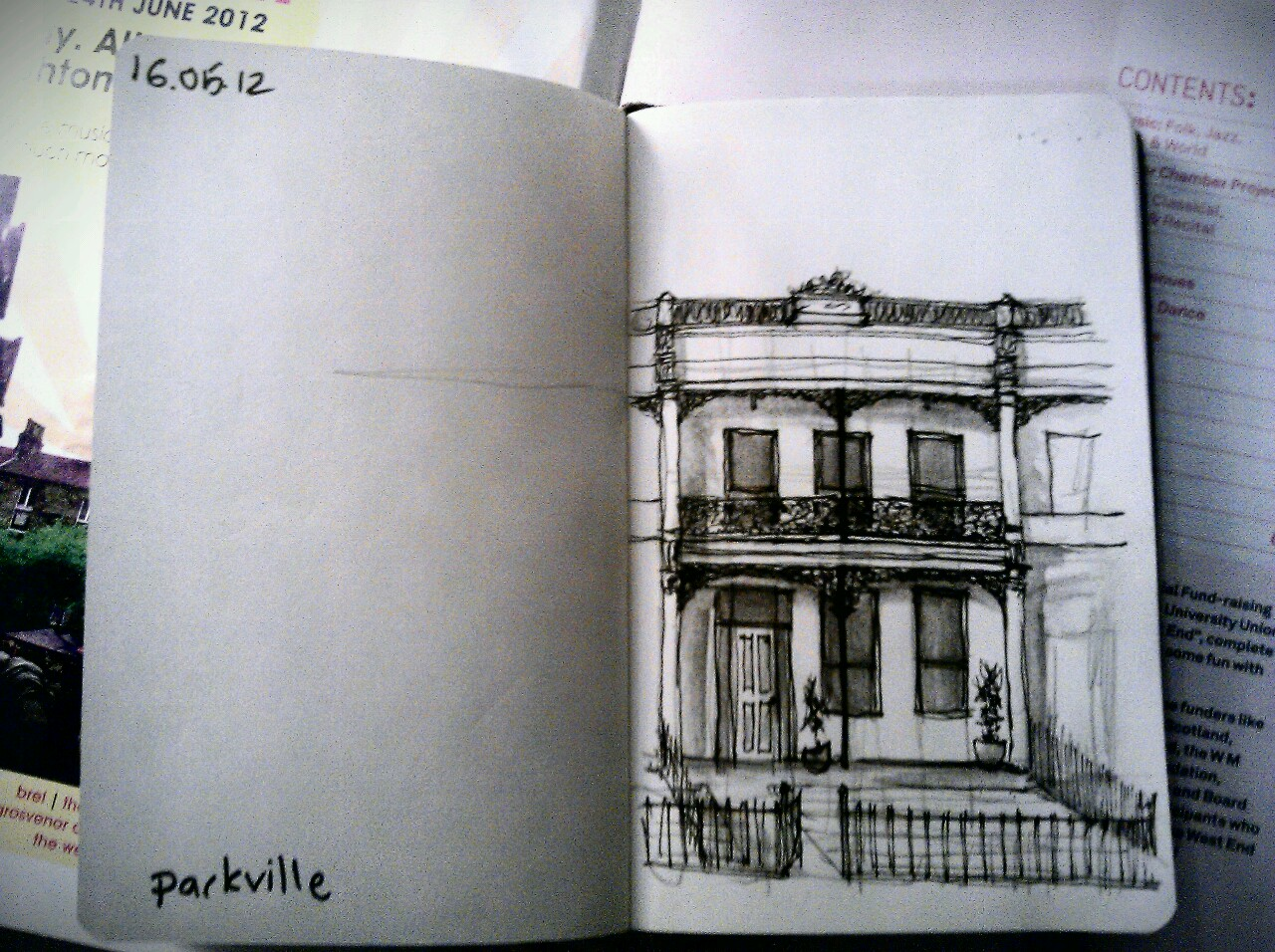 365 drawings later … day 106 … parkville