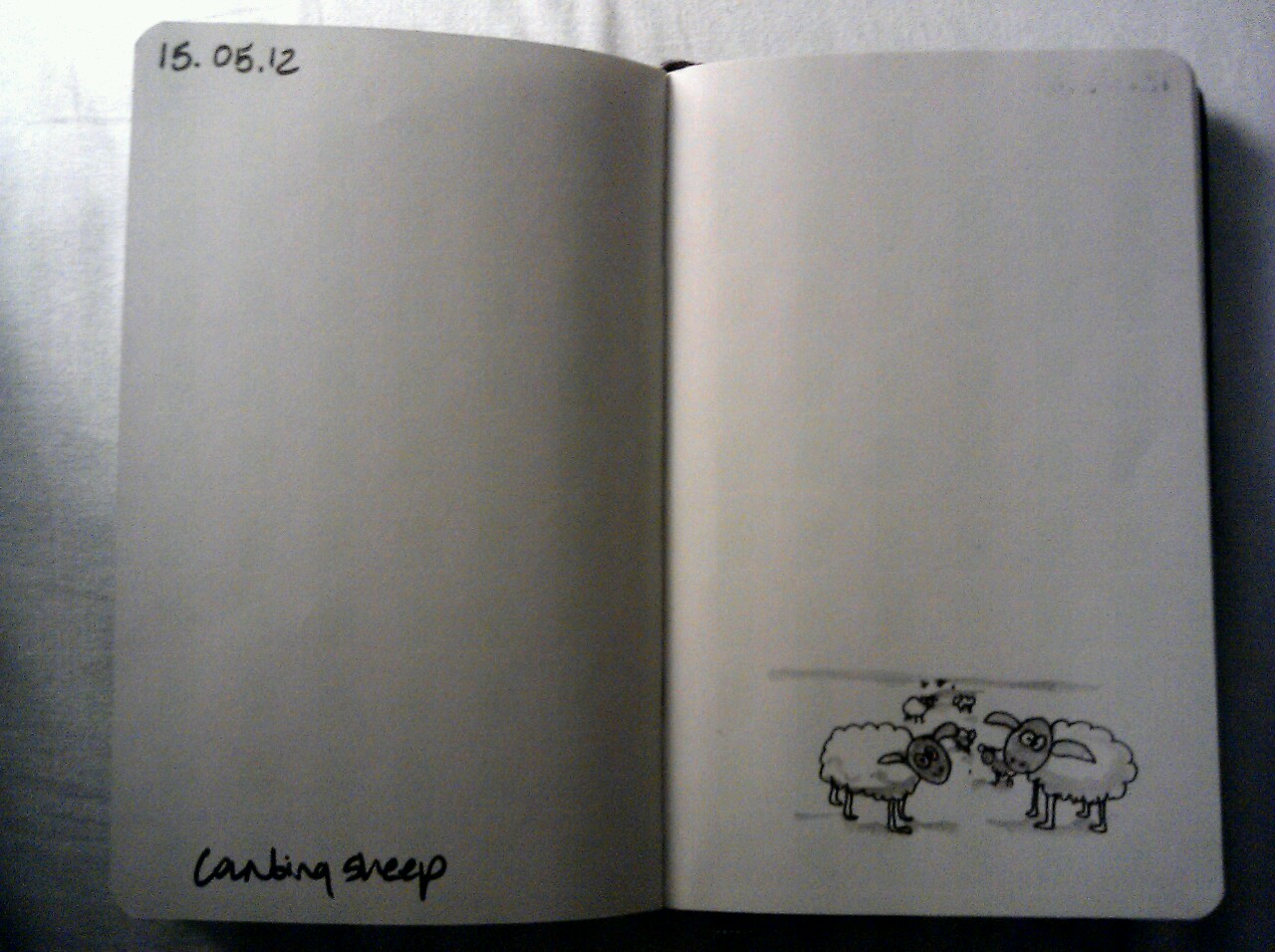 365 drawings later … day 105 … counting sheep