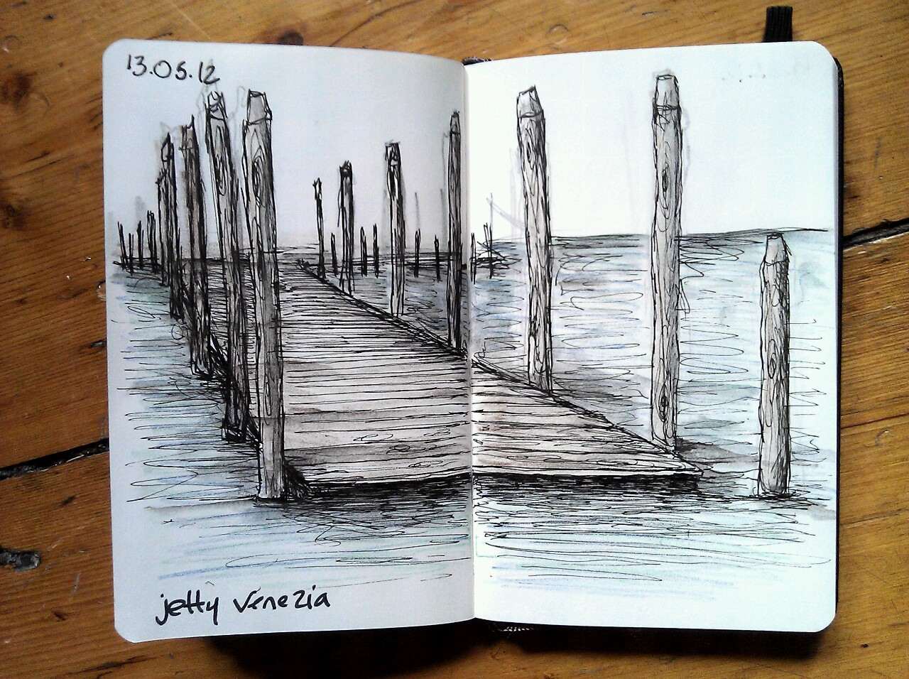 365 drawings later … day 103 … jetty venezia