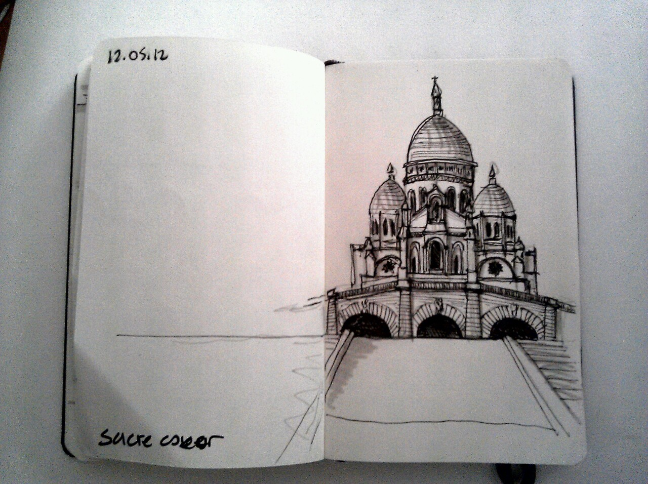 365 drawings later … day 102 … sacre coeur