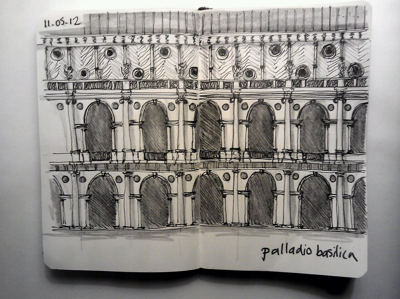 365 drawings later … day 101 … palladio basilica