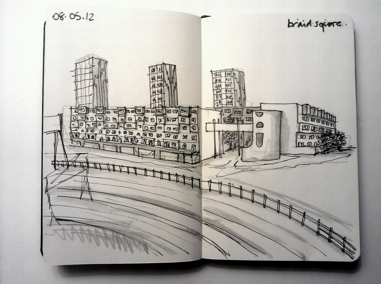 365 drawings later … day 98 … braid square (a taster of a bigger drawing)