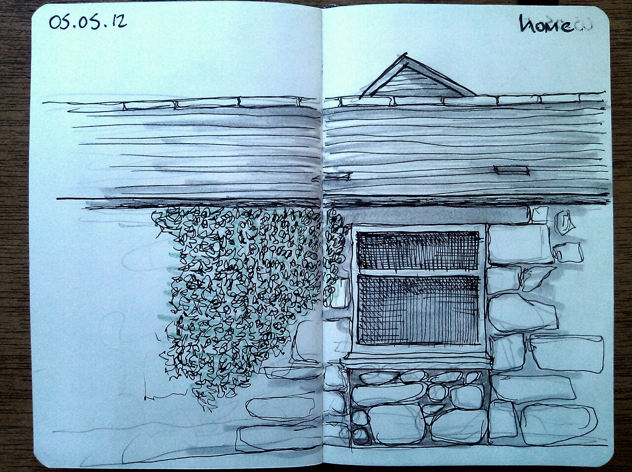 365 drawings later … day 95 … home