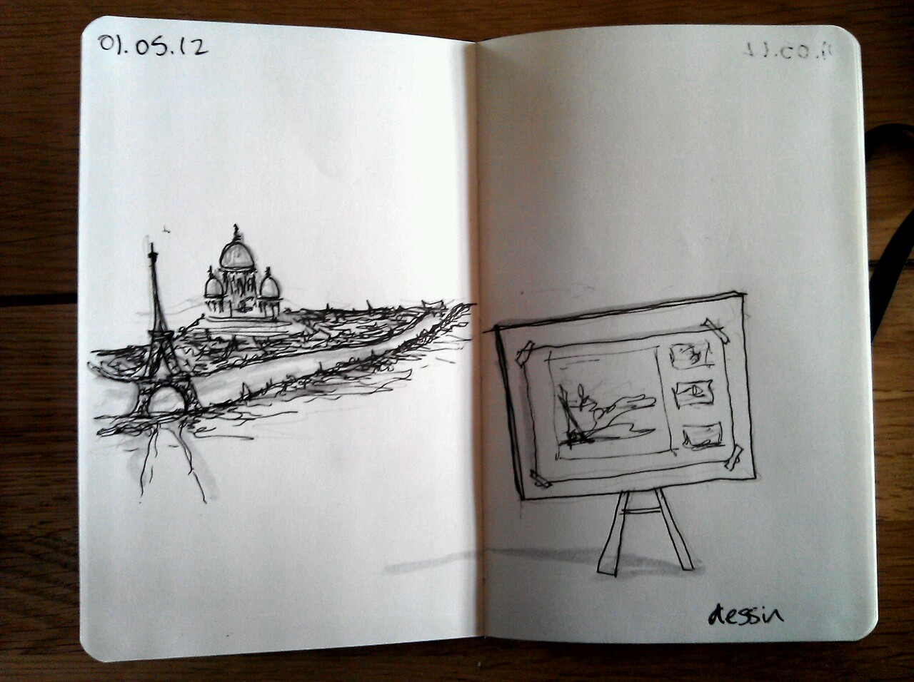 365 drawings later … day 91 … dessin