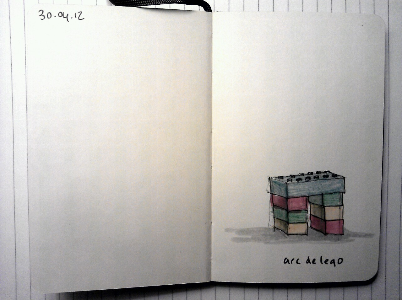 365 drawings later … day 90 … arc du lego
