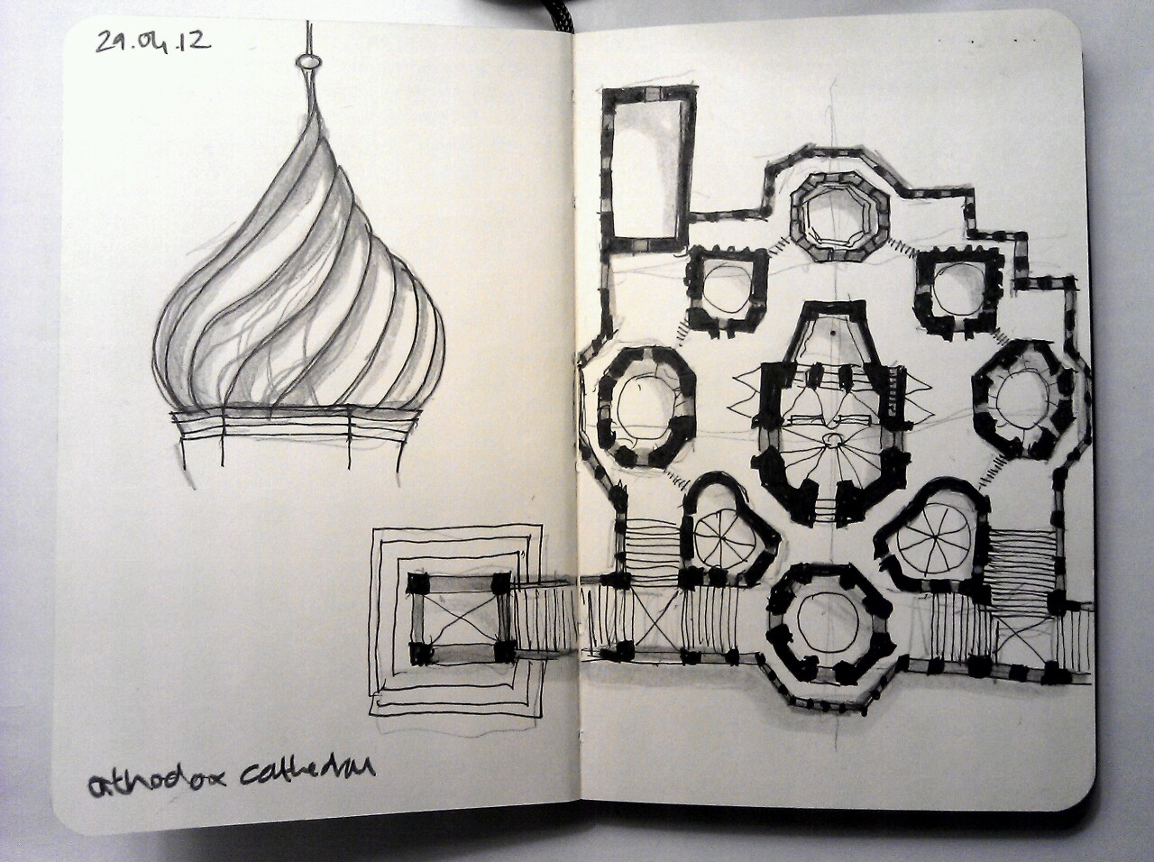 365 drawings later … day 89 … orthodox cathedral