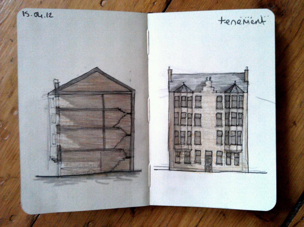 365 drawings later … day 75 … tenement