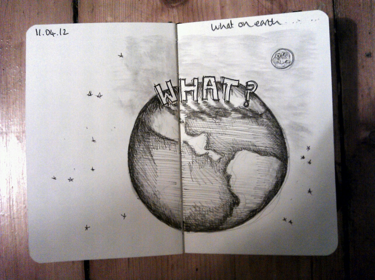 365 drawings later … day 71 … what on earth (its been a hard day)