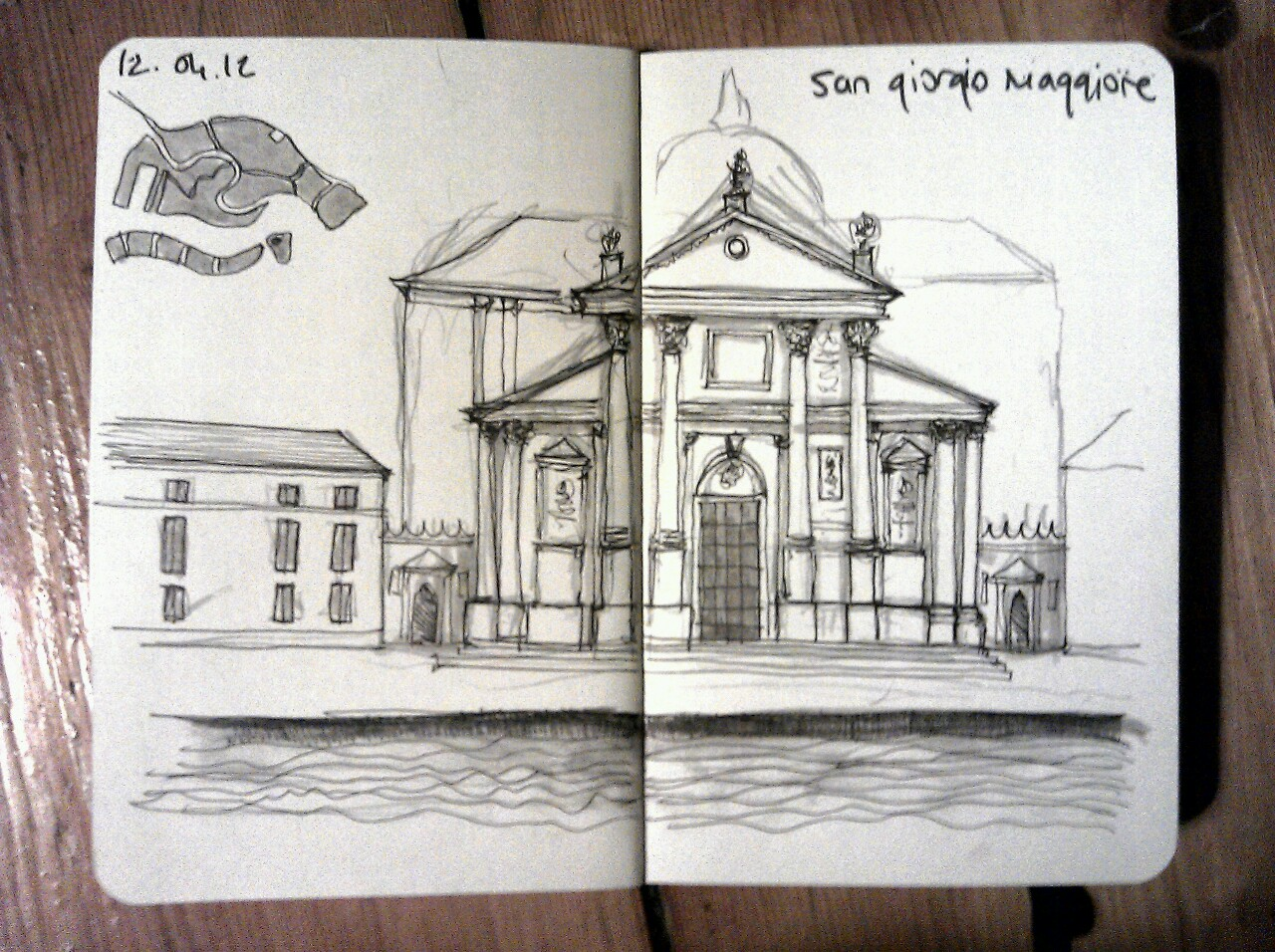 365 drawings later … day 72 … san giorgio maggiore (I just love venice, and this is the most beautiful church in the world)