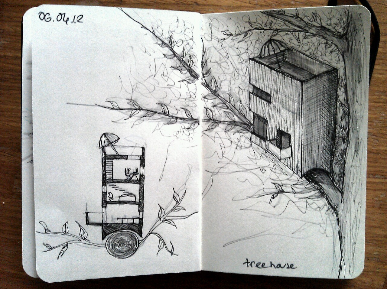 365 drawings later … day 66 … tree house