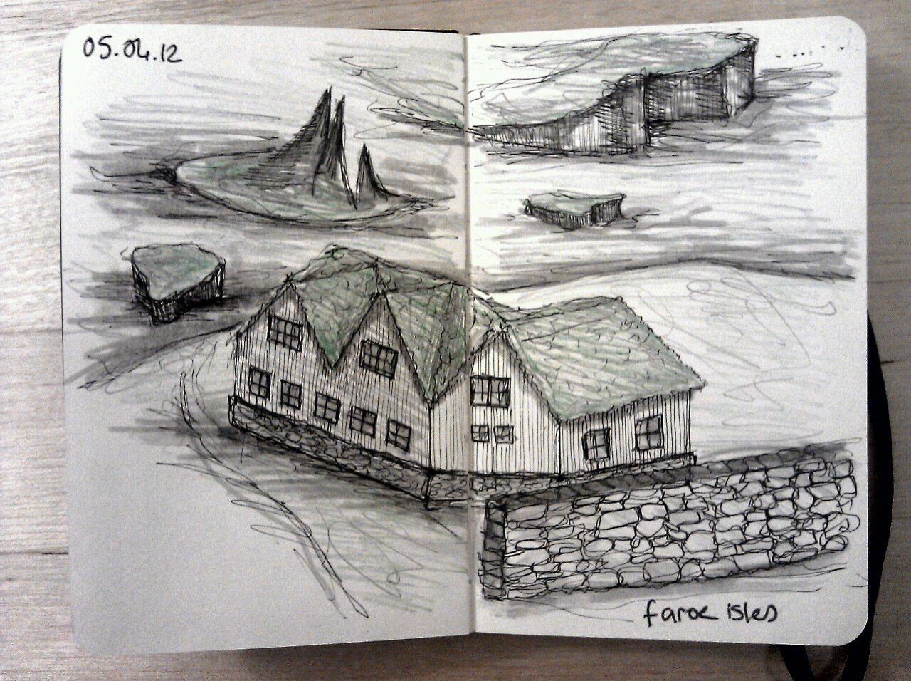 365 drawings later … day 65 … faroe isles (would make for a nice long weekend, who wants to come with me?)