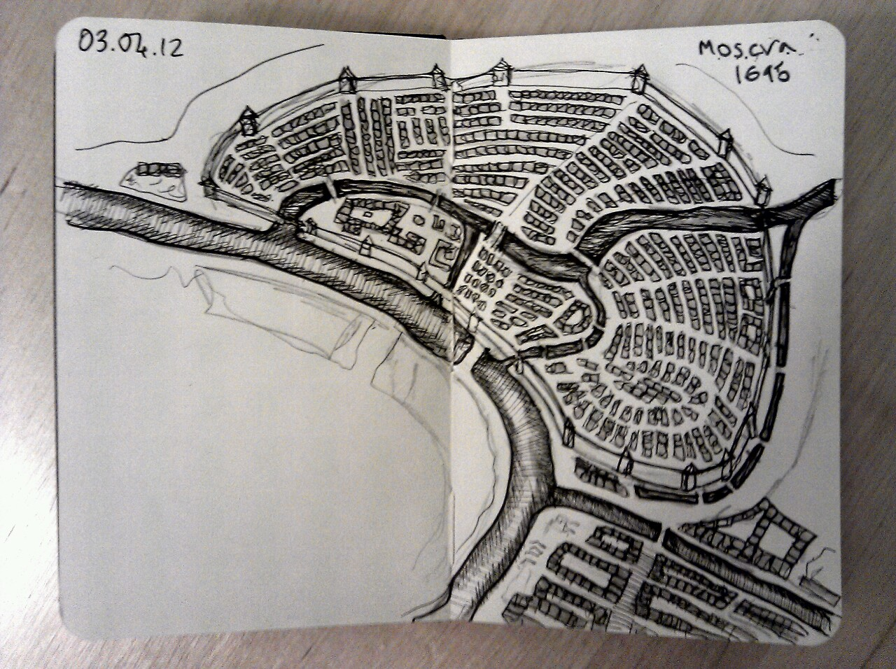 365 drawings later … day 63 … moscova 1695