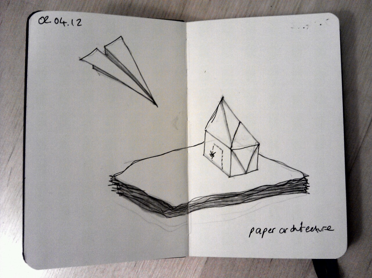 365 drawings later … day 62 … paper architecture (of sorts)
