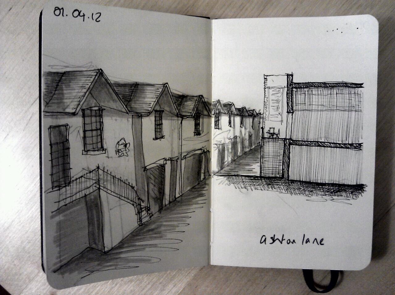 365 drawings later … day 61 … ashton lane (great place for a hair o' the dug)