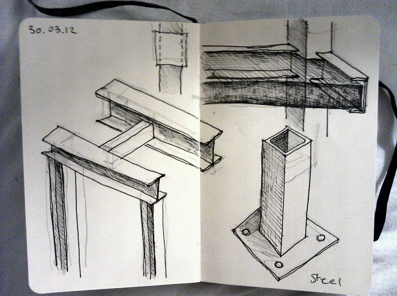 365 drawings later … day 59 … steel (I've been worrying about it all week)
