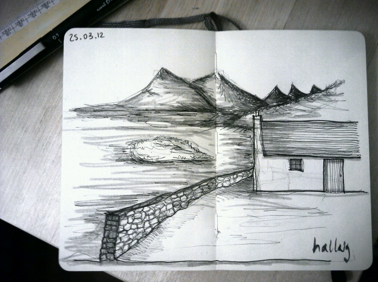 365 drawings later … day 54 … hallaig