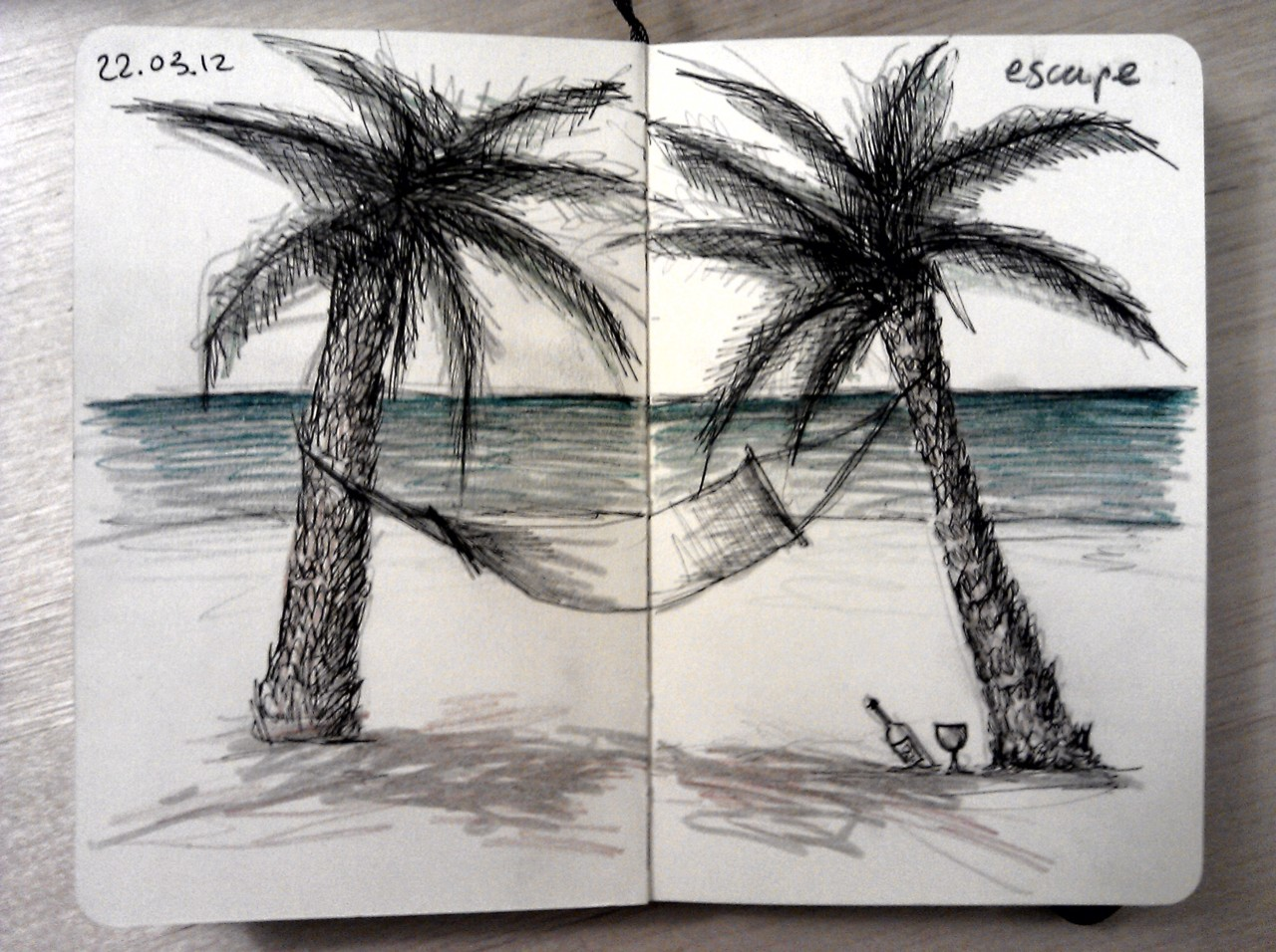 365 drawings later .. day 51 … escape (a recurring theme)