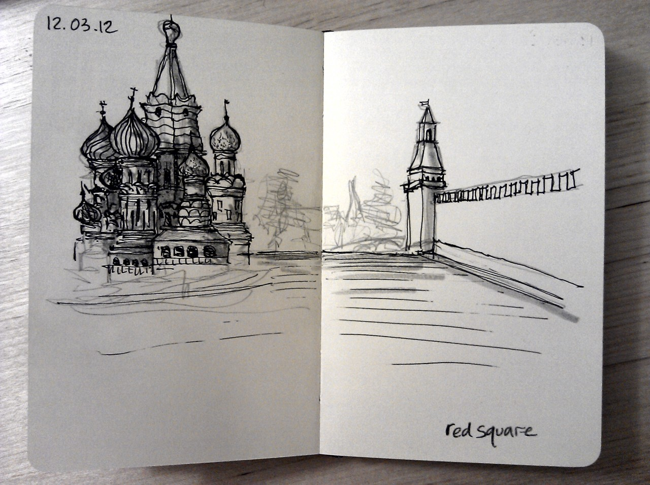 365 drawings later … day 41 … red square (can't wait to go)