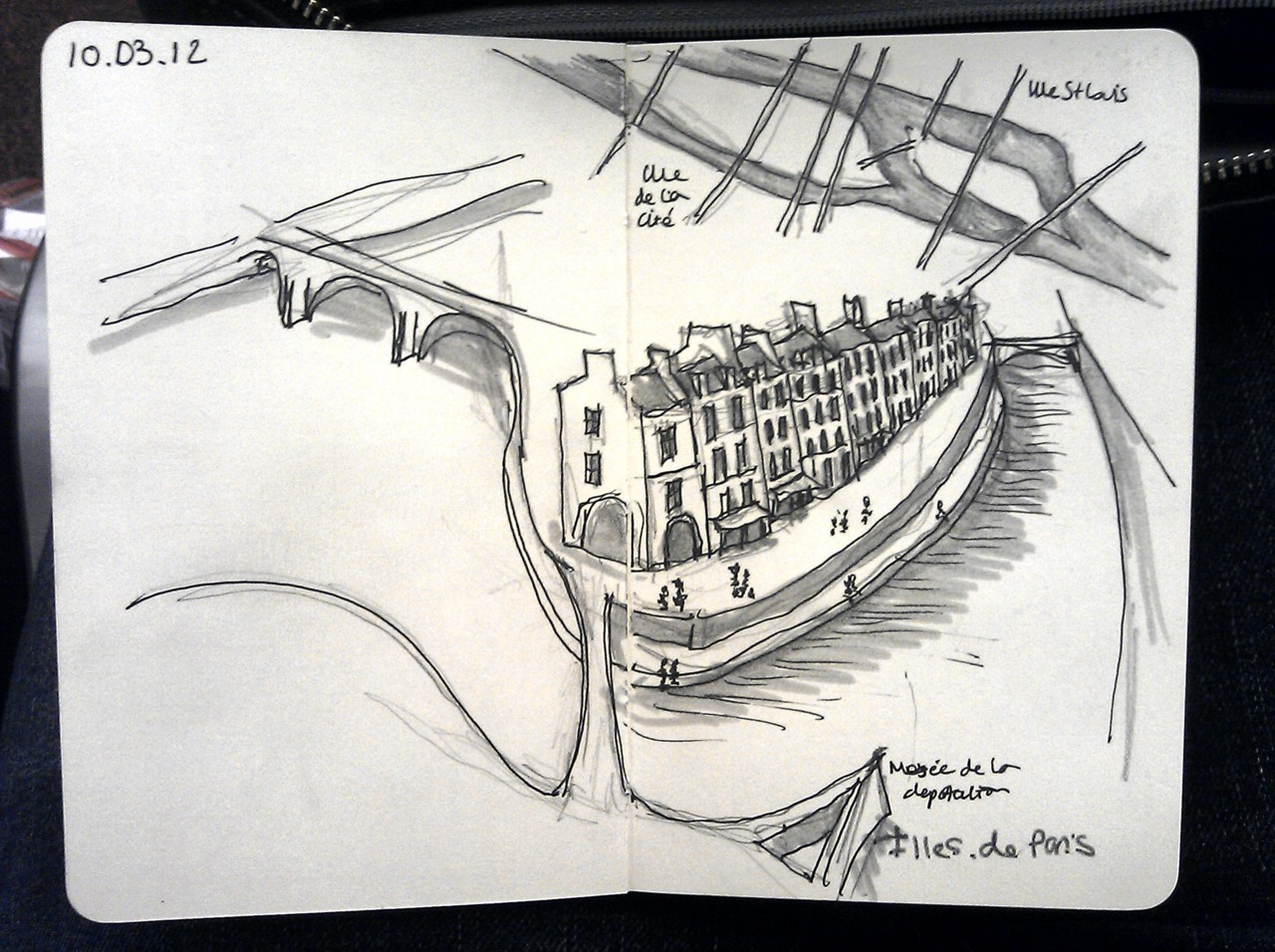 365 days later … day 39 … Illes de paris (if I was ever lucky enough to live in Paris, this is where I'd quite like to be)