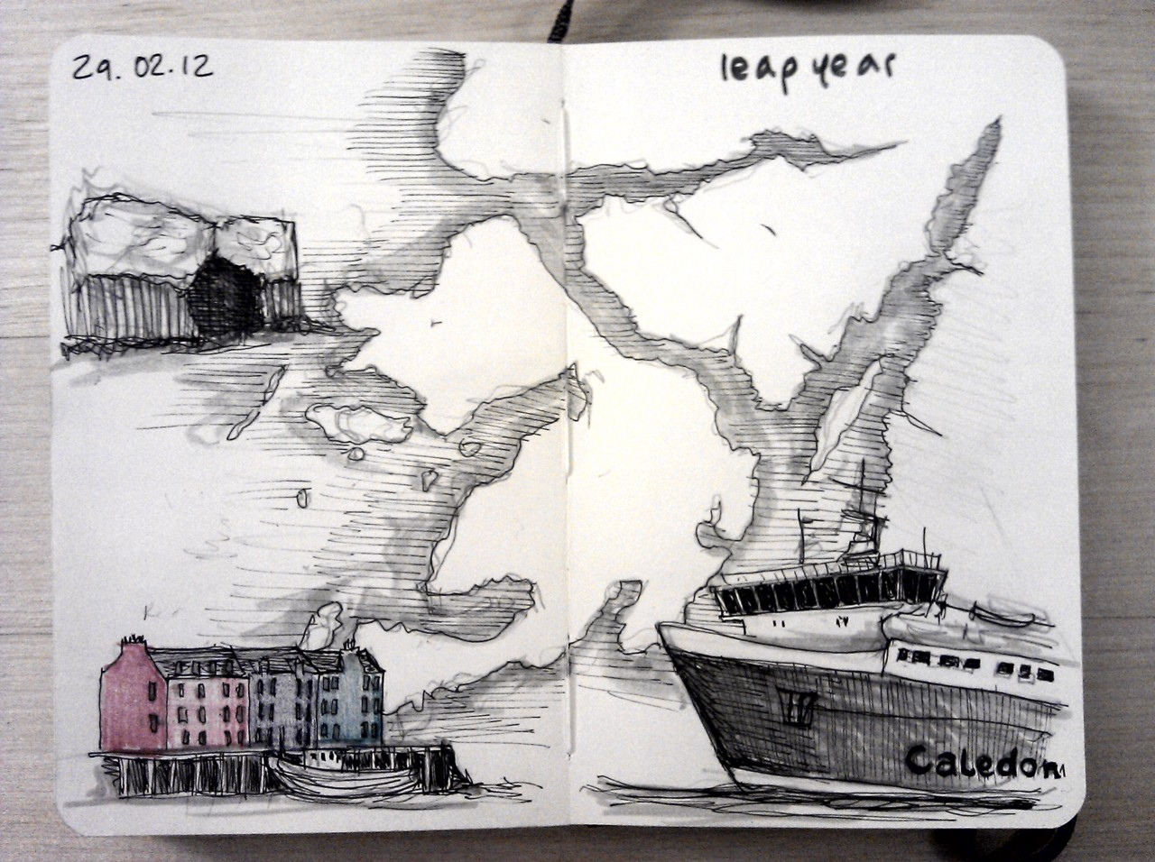 365 drawings later  … day 29 … leap year (as today was a non-day, I reckon I should've had the day off to go island hopping)
