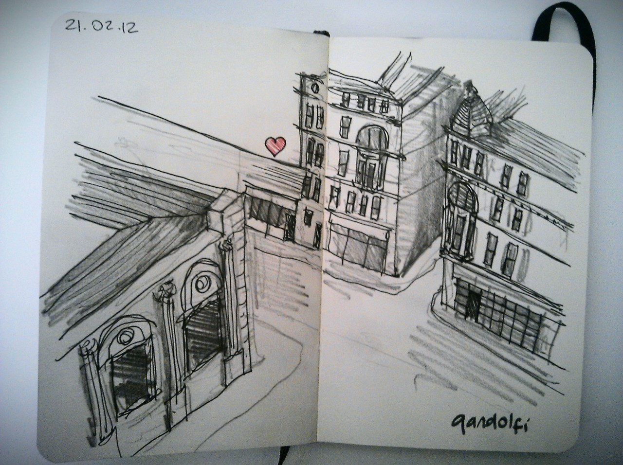 28 drawings later … day 21 … gandolfi (the best eggs benedict in glasgow, crappy drawing today…no time and too much coffee = wobbly lines)