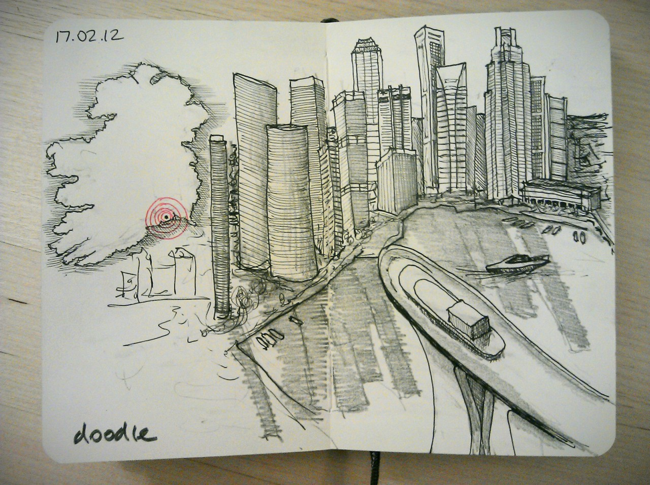 28 drawings later … day 17 … doodle (for my favourite irish-singaporean)