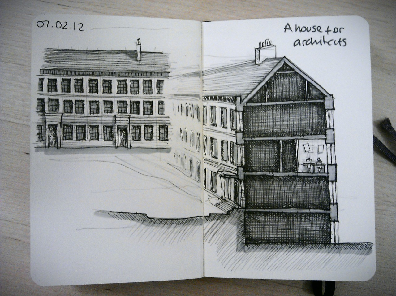 28 drawings later … day 7 … a house for architects (I've spent quite a lot of time here this week)