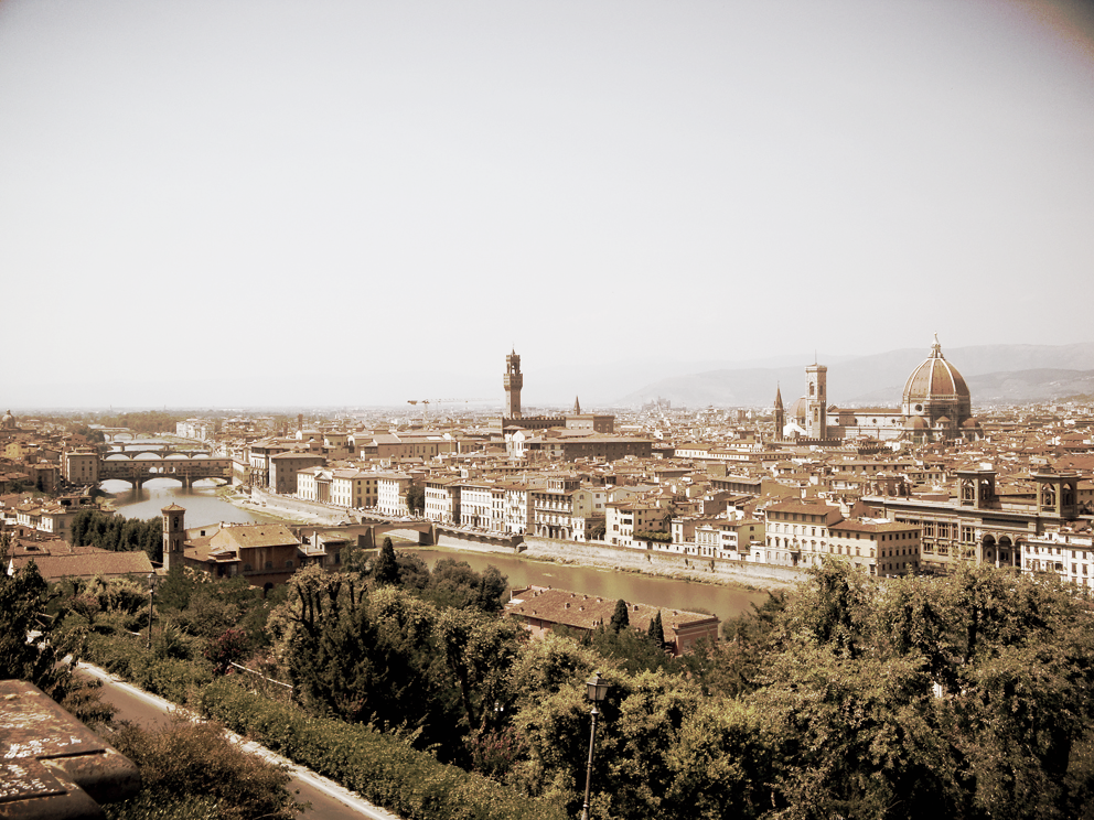 Panorama from Piazzale Michelangelo, Florence, 2009