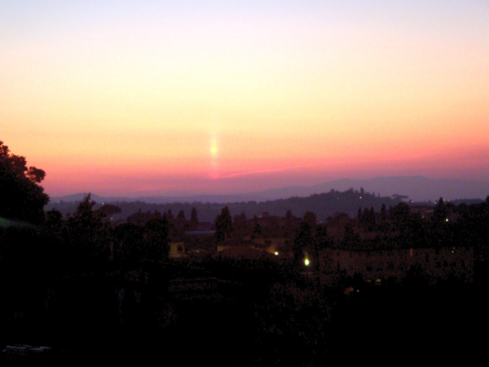 Sunset from San Miniato al Monte, Florence, 2009