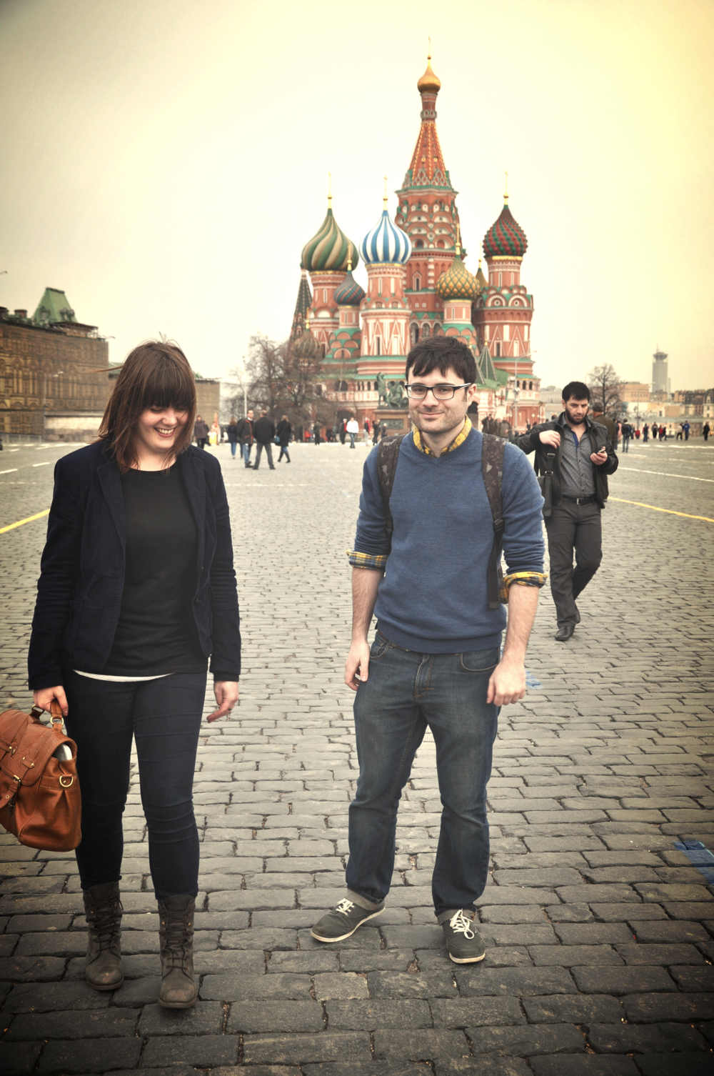 Anna + Ross in Red Square,  Moscow, 2012