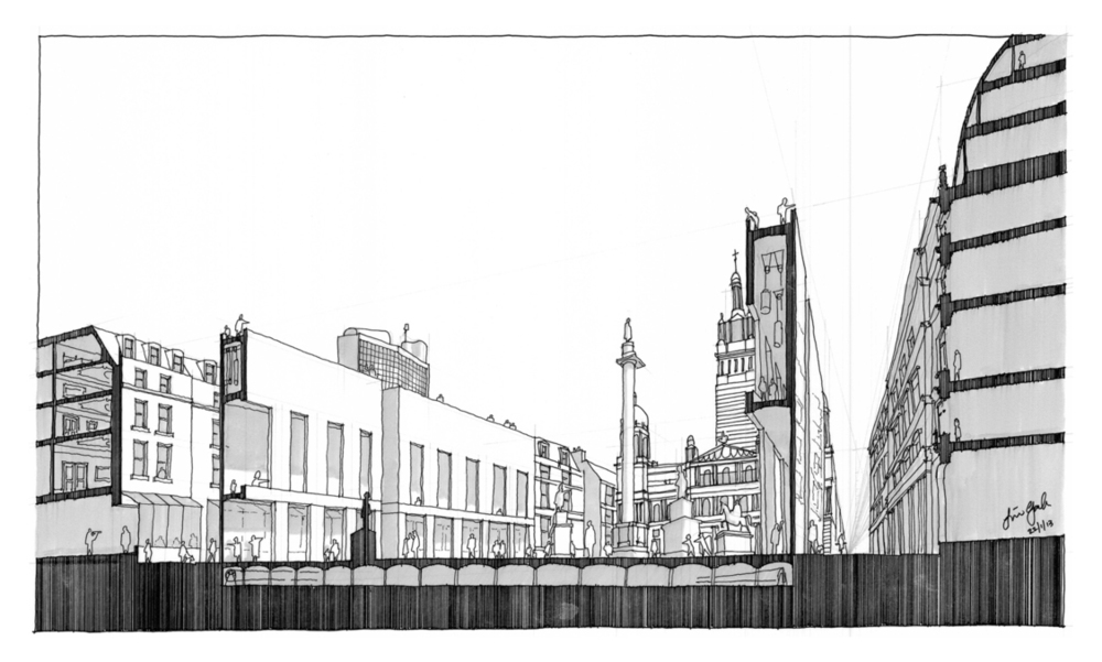 Rethinking George Square,  Paper Salon Glasgow, 2013