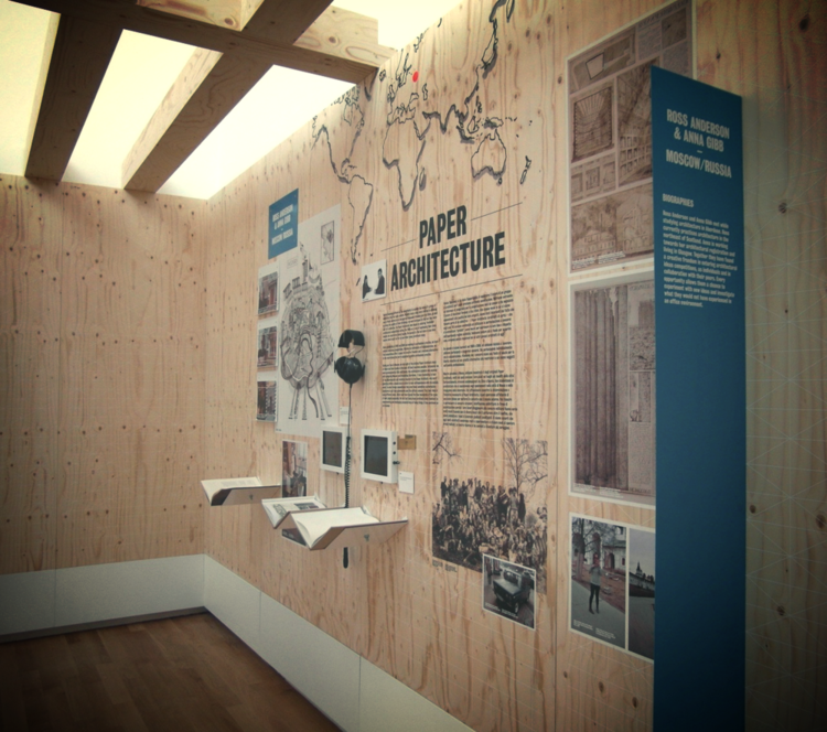 Paper Architecture Research Emporium at the British Pavilion,  Venice, 2012