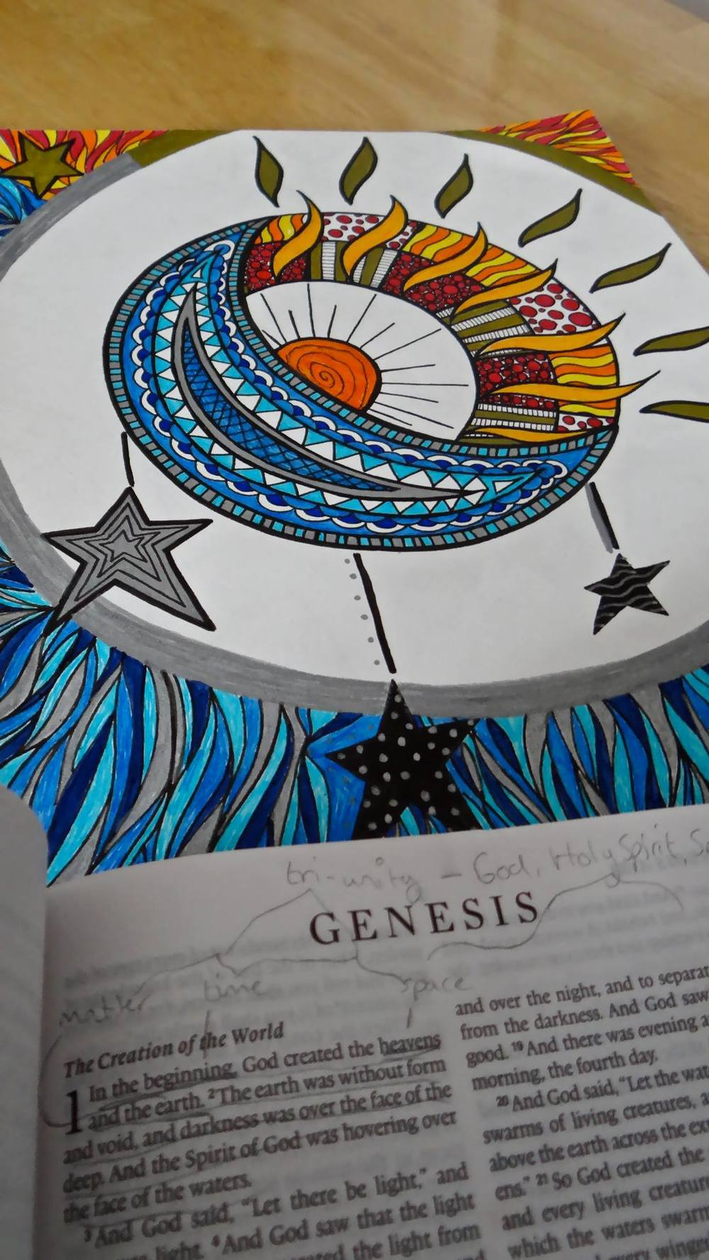 "A Genesis 1 inspired ""doodle"" by Meredith Riggins"