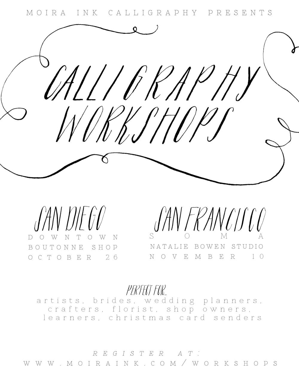 Moira Ink Calligraphy Workshops Design House Of Moira